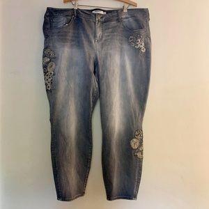 Torrid | Denim Ankle Skinny Embroidery 26XT